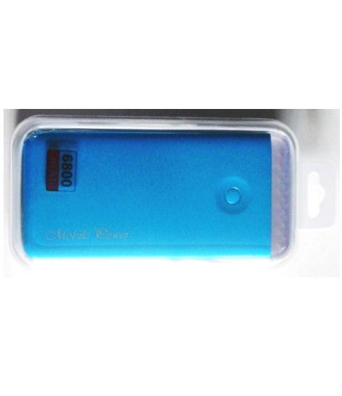 Batteria Universale esterna Power Bank 6800 mAh è consigliata durante i lunghi viaggi, quando le batterie ordinarie non consentono ulteriori lavori. Batteria Power Bank con una capacità di 6800 mAh offre diverse ore di lavoro.