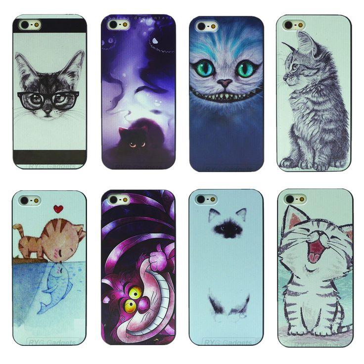 8 Ontwerpen 1 stks Kat Hond Dier PC Hard Cover Behuizing voor Apple iPhone 5 5 s SE Telefoon Case Factory Prijs groothandel