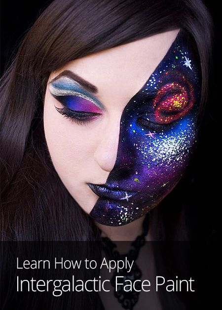 Want to kick things up a notch at the next costume party or festival? This space-age face paint lesson from makeup artist Katie Alves will put you in the limelight.