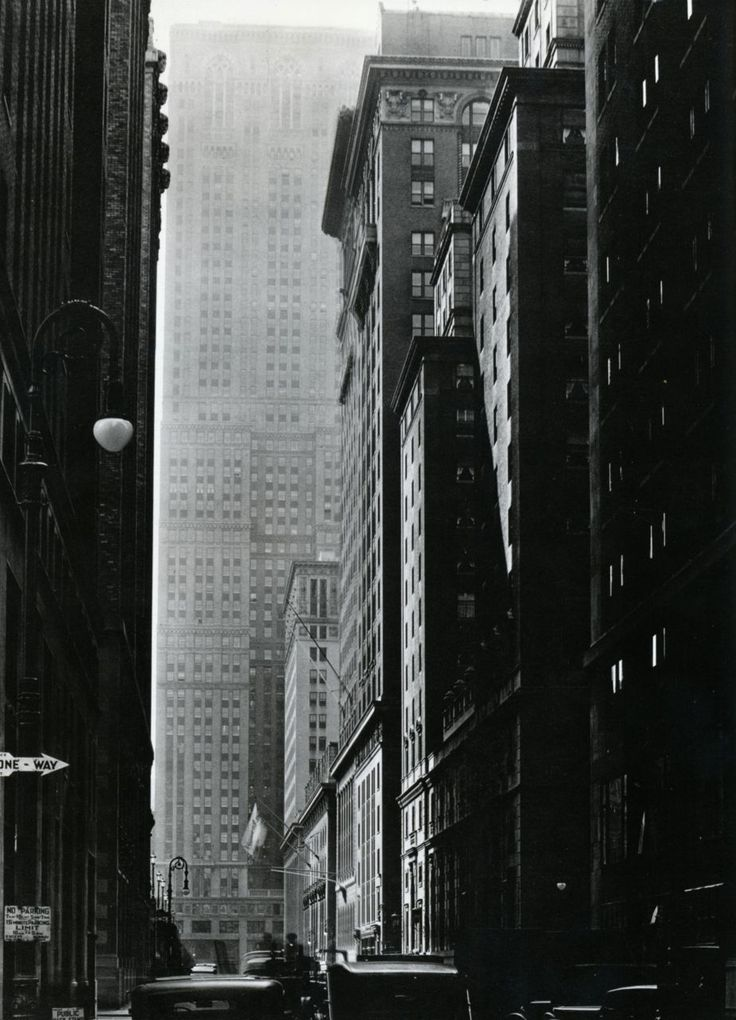 Berenice Abbott: Vanderbilt Avenue  Looking south from 47th Street, October 9, 1935  From Berenice Abbott: Changing New York