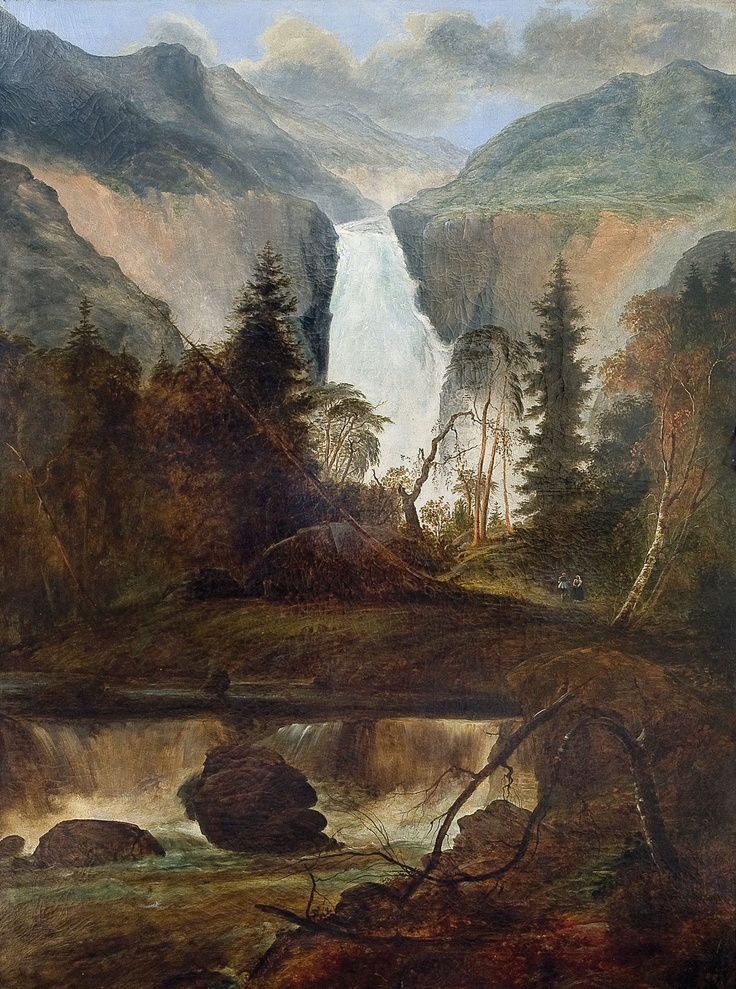Peder Balke (Norwegian 1804-1887): The Waterfall at Rjukan, 1836 