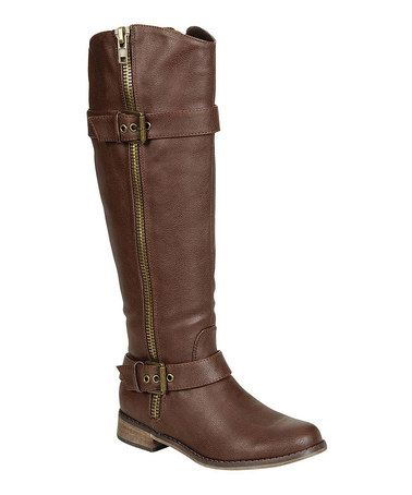$29.00 Brown Double-Buckle Rider Boot