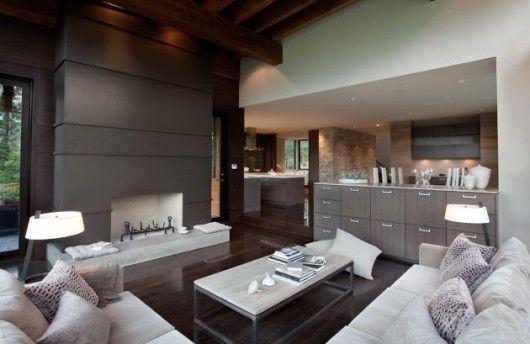 love the crisp lines of this living room! #house #design #architecture #squareglasshouse #casablanca #white #grey #black
