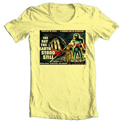 Day-the-Earth-Stood-Still-T-shirt-retro-sci-fiction-movie-cotton-graphic-tee