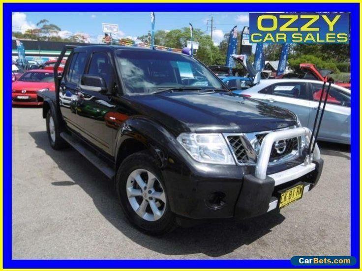 2012 Nissan Navara D40 MY11 RX (4x4) Black Automatic 5sp A Dual Cab Chassis #nissan #navara #forsale #australia