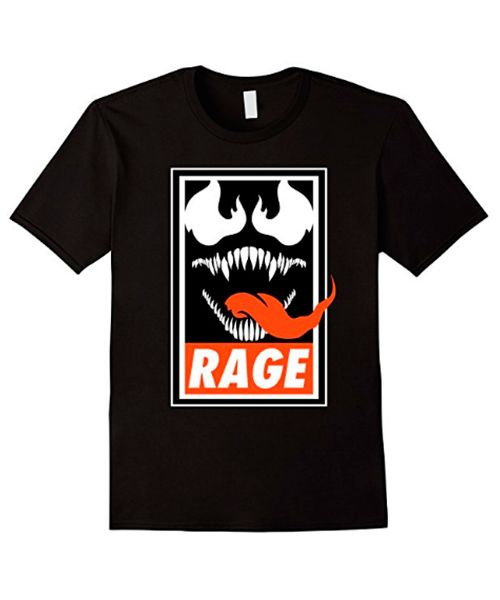 """Rage""  The baddest villain from comics into a Obey parody.  Available on Amazon    #venom #tshirt #obey #parody"