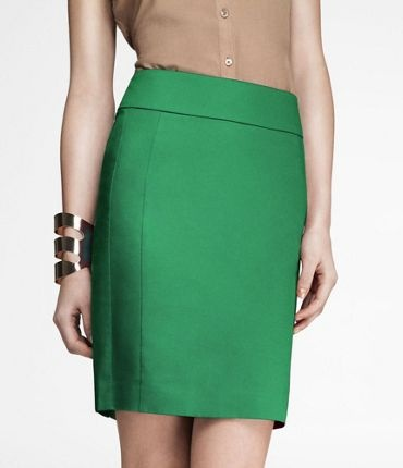 green pencil skirt: Green Skirts, Skirts Style, Seam Pencil, Cotton Sateen, Colors Pencil, Kelly Green, Green Cotton, Green Pencil Skirts, Bright Colors