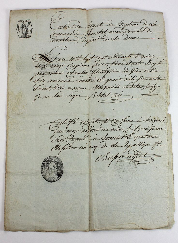 33 best Ephemera, Antique documents and maps images on Pinterest - fresh french birth certificate translation sample