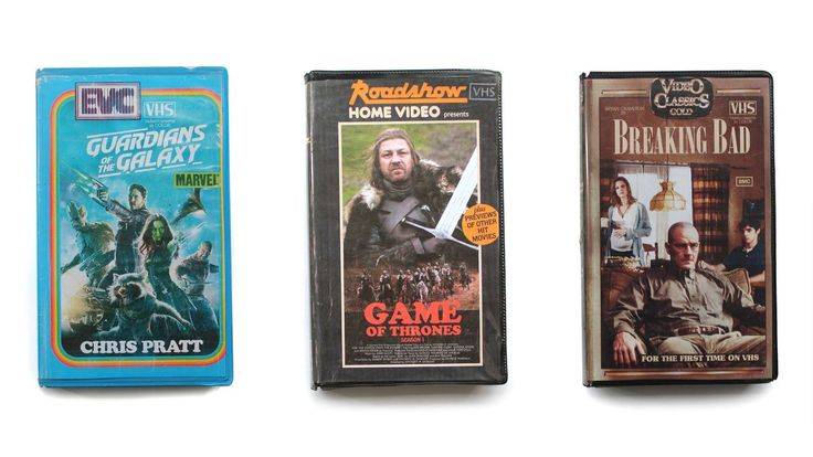 These VHS covers for current movies and shows make us nostalgic for the present