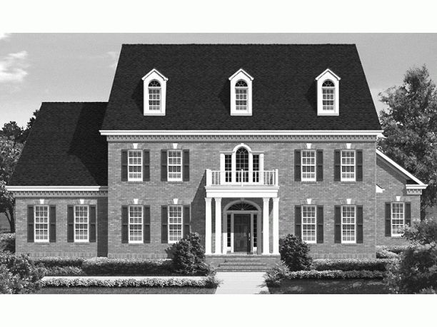 1000 images about traditional colonial homes on pinterest for Georgian colonial house plans