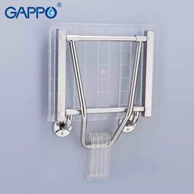 Gappo Wall Mounted Chairs Bench Shower Folding Seat Folding Waiting Bath Bathroom Stool Solid Seat Toilet Chairs Bathroom Seat Shower Seat Bathroom Stool