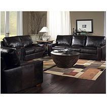 Burbank Vintage Leather Craftsman Living Room 3-Piece Set