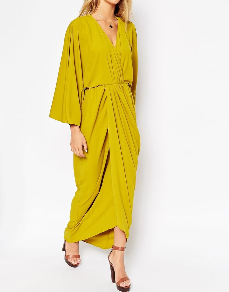 Image 3 of ASOS 70's Caftan Wrap Maxi Dress