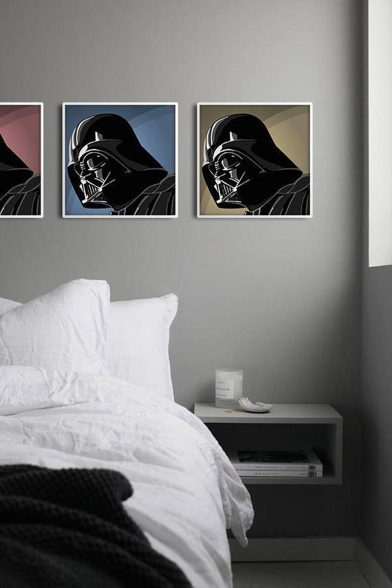 Darth Vader Poster Set Of 3 Star Wars Wall Print Printable Star Wars Collection Star Wars Wall Decor Nursery Print Stormtrooper R2 D2 Darth Vader Poster Wall Prints Star Wars Prints