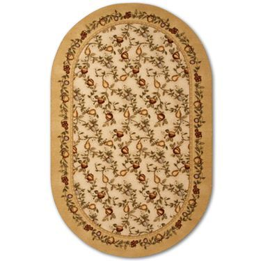 Jcp Home™ Elegant Fruit Washable Oval Rugs   JCPenney