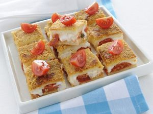 Mozzarella in carrozza non fritta? Certo, preparala in forno, in versione gratin!