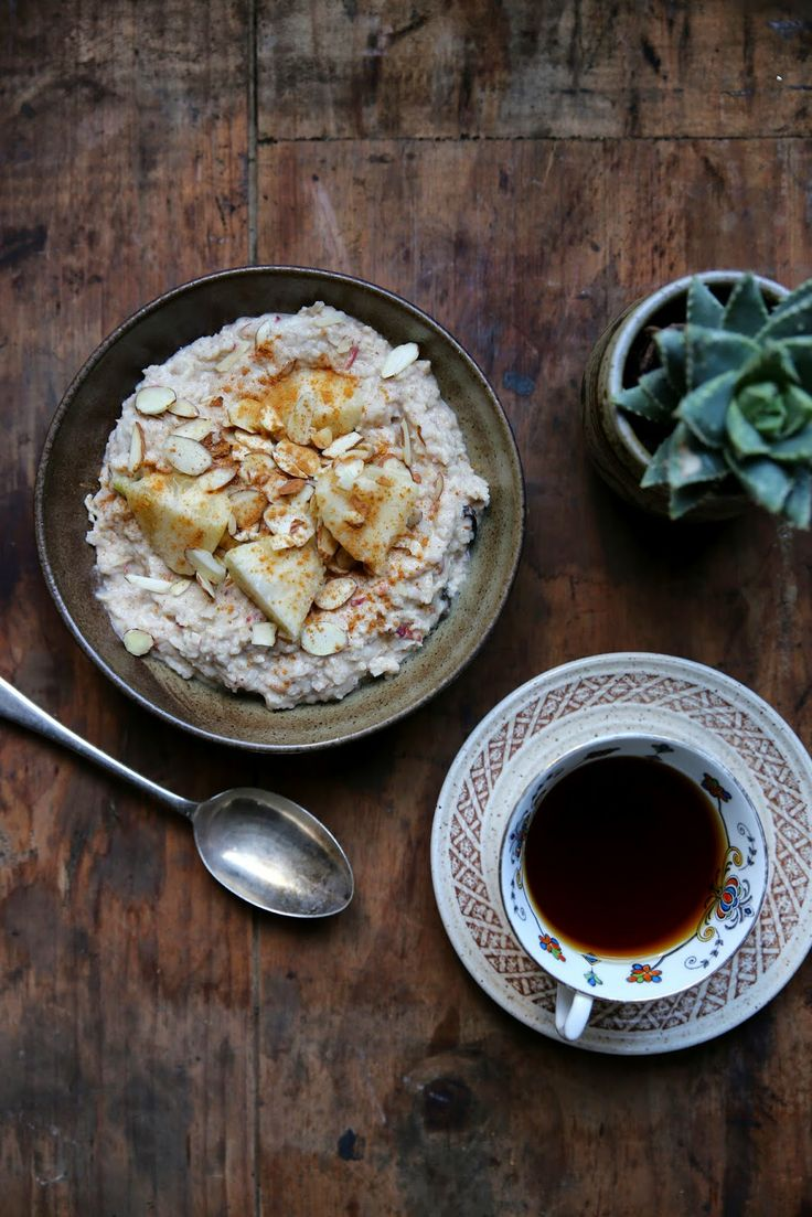 petite kitchen: SIMPLE SPICED FEJOA & APPLE BROWN RICE BIRCHER