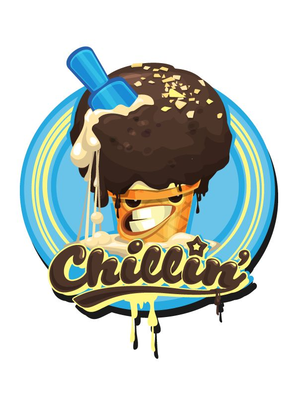 Ice Cream . T-Shirts by Gabriel Mourelle, via Behance