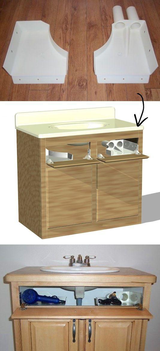 bathroom sink hair dryer curling iron