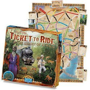 Ticket to Ride Map Collection Board Game: The Heart of Africa, Volume #3 by Days of Wonder, http://www.amazon.com/dp/B00ADB7BY4/ref=cm_sw_r_pi_dpp_QkqJsb0P6R8BQ