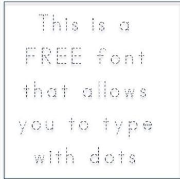 Free ABC Print Dotted Font - Fonts4Teachers - TeachersPayTeachers.com
