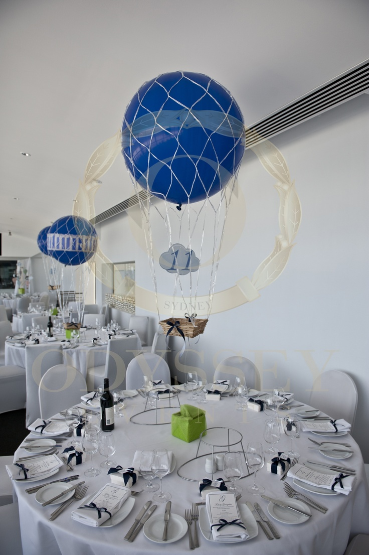 11 best hot air balloons kites themed christening ideas for Balloon decoration for naming ceremony