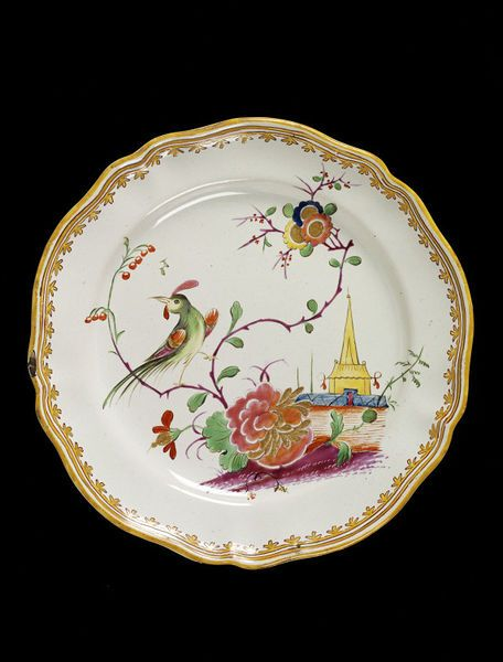 Plate, made in Bologna, Finck, Italy, about 1780, tin-glazed earthenware