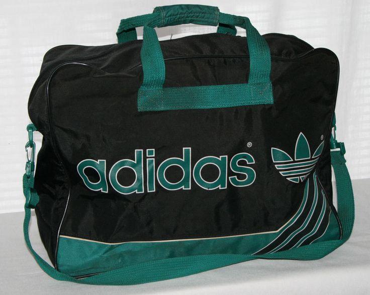 vintage adidas west germany duffle bag gym tote travel 3. Black Bedroom Furniture Sets. Home Design Ideas