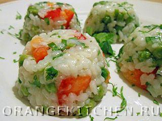 Вегетарианский рецепт рисового салата