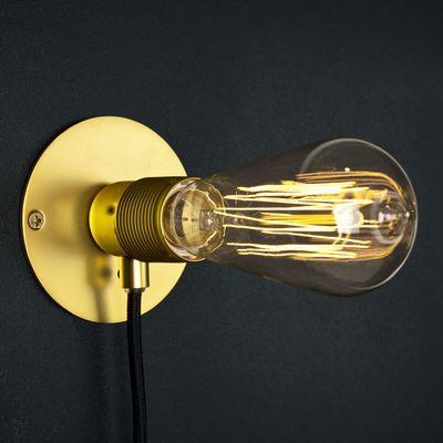 Applique Frama Kit Small / Ø 12 cm Laiton / Câble noir - Frama
