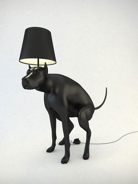 Good Boy table lamp (2012) - the On/Off switch is shaped like turd that needs to be stepped on, whatshisname.co.uk