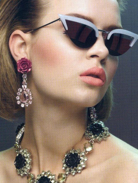 Throwing ShadeJosephine Writing, Glasses Jewelry, Shades, Cat Eye, Beautiful Editorial, Prada Sunglasses, Fashion Accessories, Raymond Meier, Vogue China