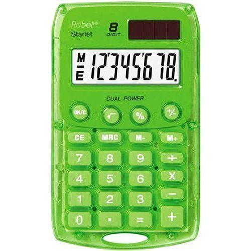 Rebell Starlet napelemes zsebszámológép 8 számjegyes, 3 év garancia! Zöld színben Ft Ár 1,490