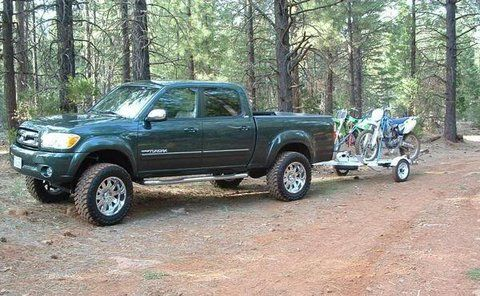 First generation Toyota Tundra double cab - green