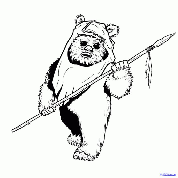 ewok1 - Ewok Starwars Coloring Pages from 101ColoringPages.com ...