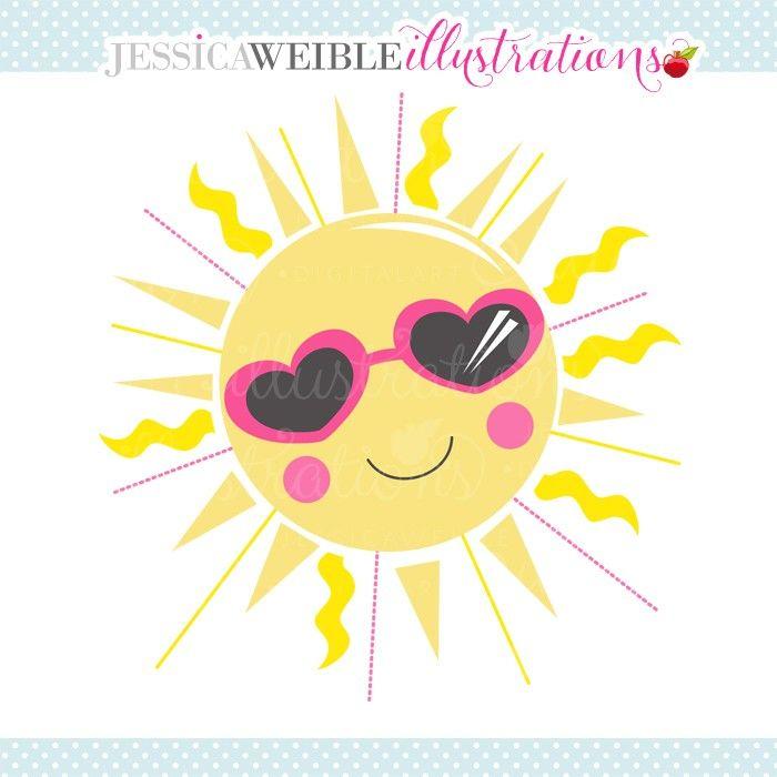Sunshine Cutie Clipart - JW Illustrations | JWI // Create
