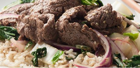 Sesame Flank Steak Stir-Fry