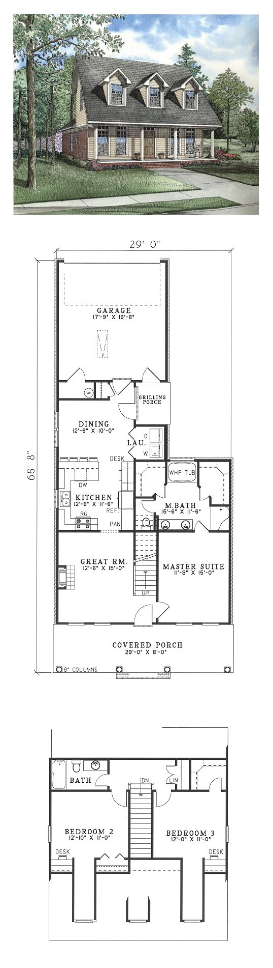 53 best cape cod house plans images on pinterest cape for Homes with separate living quarters
