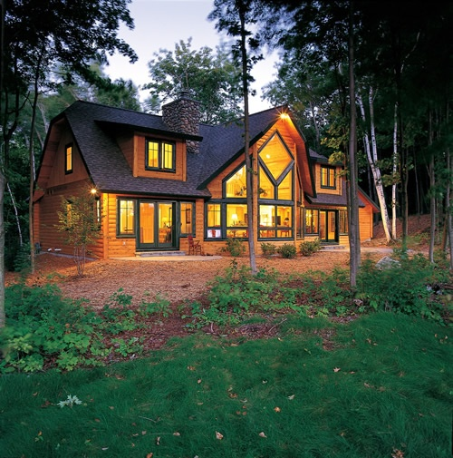 Colonial home log homes and forests for Colonial log homes