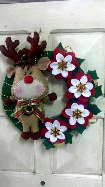 1000 ideias sobre grinaldas natalinas no pinterest guirlandas de natal guirlandas e malha deco - Decoraciones de navidad manualidades ...