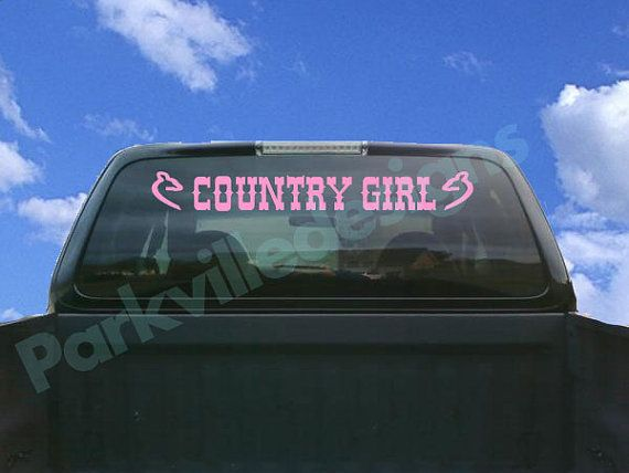Only with the browning buckmark instead of the doe country girl windshield truck decalscar