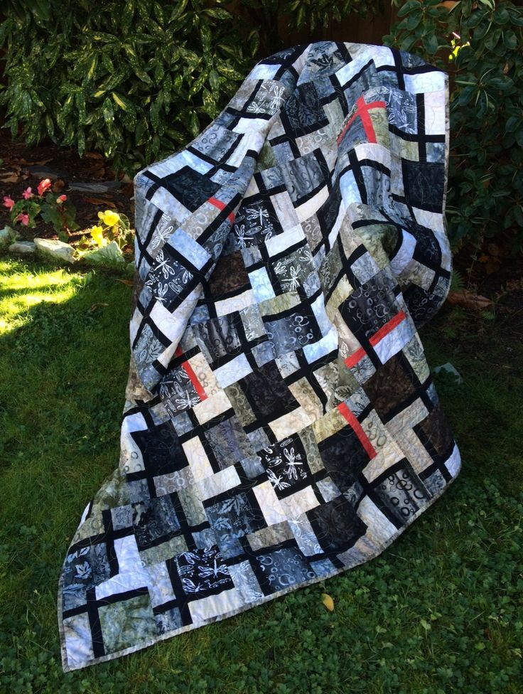 Nocturne Nine-Patch Revisited Quilt Kit by pacificspiritquilts on Etsy