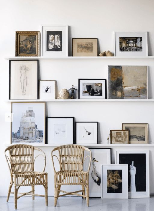 Buy Art Online & Make it Work in Your Home   The Maker Place. We look at the best ways to display art prints in your home and how to buy affordable art with confidence. This beautifully styled picture shelving gallery wall is modern yet classic in design and adds interest to any room.