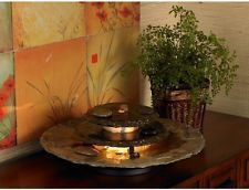 Slate Rounds Electric Indoor Home Waterfall Decor Stone Lighted Table Fountain