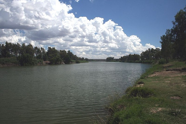 Confluence of the Orange and Vaal Rivers.