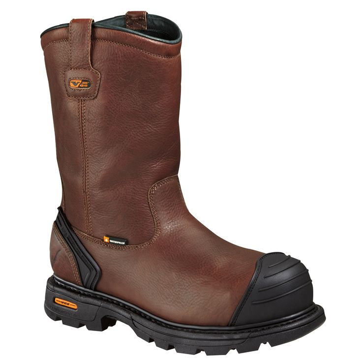 Thorogood Mens Boots Brown Leather Safety Toe Waterproof Wellington