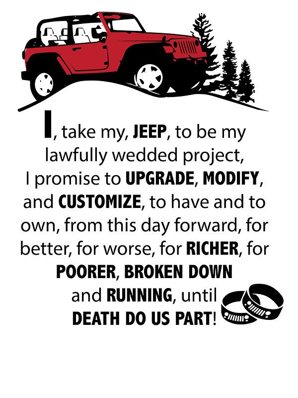 Jeep Wedding Vows by jeepstyletees
