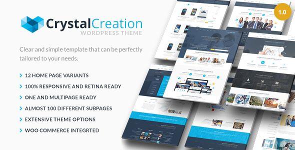 Crystal Responsive WordPress Theme Multipurpose