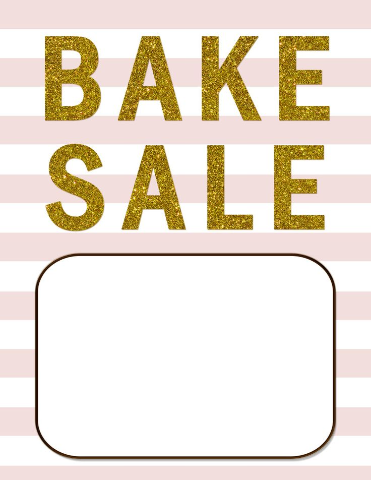 Bake Sale Template  BesikEightyCo