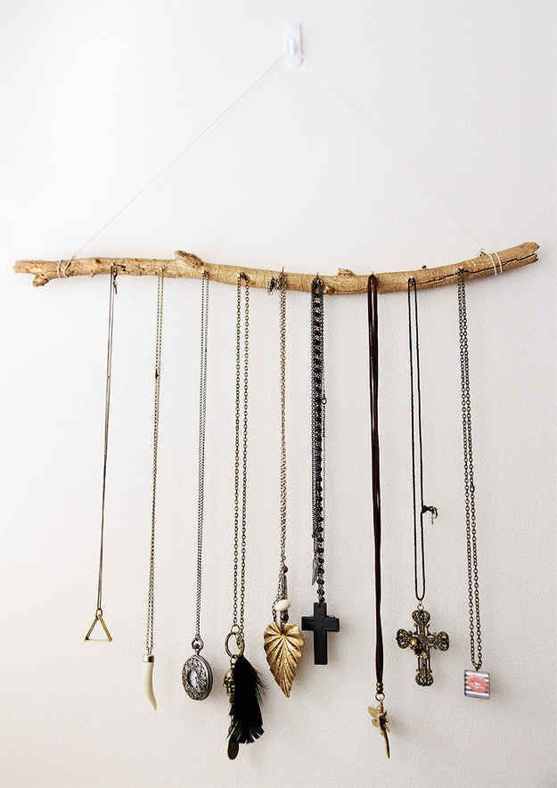 Sieraden ophang systeem